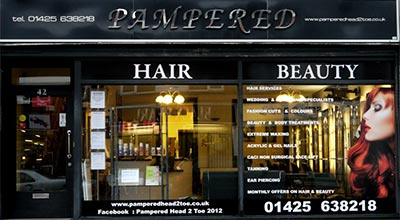 Pampered Head 2 Toe shop front